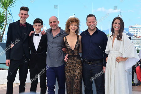 Cannes France 15th May 2016: Noam Imber, Yoav Rotman, Director Eran Kolirin, Mili Eshet, Alon Pdut and Shiree Nadav-naor at the 'beyond the Mountains and Hills' Photo-call During the 69th Annual Cannes Film Festival at the Palais Des Festivals On the 15th May 2016 in Cannes, France.