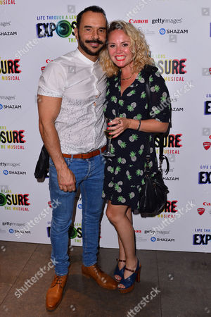 London, England, 28th July 2016: Michael Greco (miles Mason) and Charlie Brooks Attend 'life Through a Lens: Exposure the Musical' Press Night at St James Theatre, Victoria On the 28th July 2016.