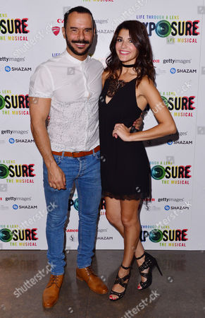 London, England, 28th July 2016: Michael Greco (miles Mason) and Natalie Anderson (tara) at the 'life Through a Lens: Exposure the Musical' Press Night at St James Theatre, Victoria On the 28th July 2016.