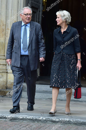 London UK 27th Sept 2016: Virginia Bottomley, Peter Bottomley at the Memorial Service for Terry Wogan at Westminster Abbey, London. September 27, 2016 London UK