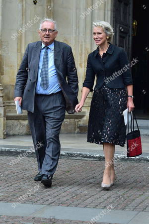 Stock Picture of London UK 27th Sept 2016: Virginia Bottomley, Peter Bottomley at the Memorial Service for Terry Wogan at Westminster Abbey, London. September 27, 2016 London UK