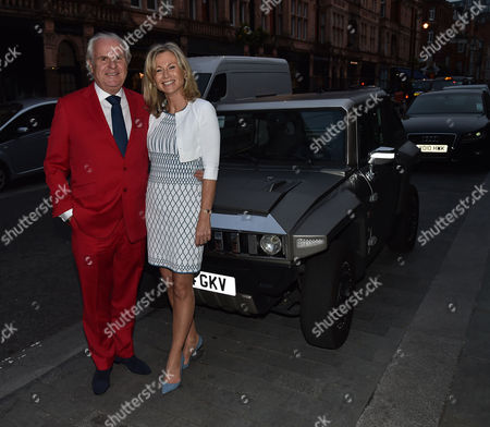 Stock Image of Michael Spencer's Election Night Party at Scott's in Mount Street Mayfair London Lord Paul Myners & Lady Alison Myners