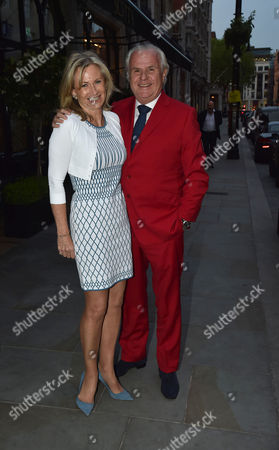 Stock Picture of Michael Spencer's Election Night Party at Scott's in Mount Street Mayfair London Lord Paul Myners & Lady Alison Myners