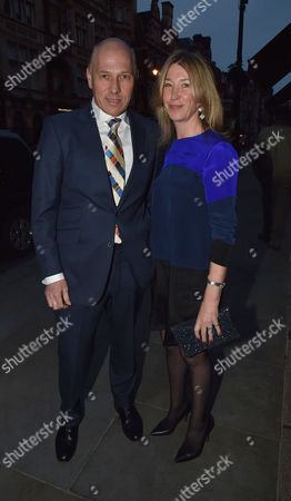 Stock Photo of Michael Spencer's Election Night Party at Scott's in Mount Street Mayfair London Peregrine & Sarah Armstrong-jones