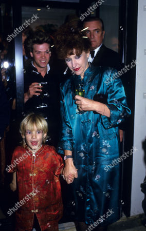 Stock Image of Opening Party For 'Dynasty' A New Chinese Restaurant Anita Dobson with Calum Best and Nick Staverson Behind