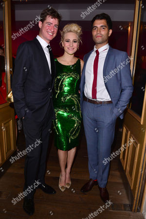 London, England 26th July 2016: Matt Barber, Pixie Lott and Charlie De Melo Attends the Press Night After Party of 'Breakfast at Tiffany's' at the Haymarket Hotel in London, England On the 26th July 2016.