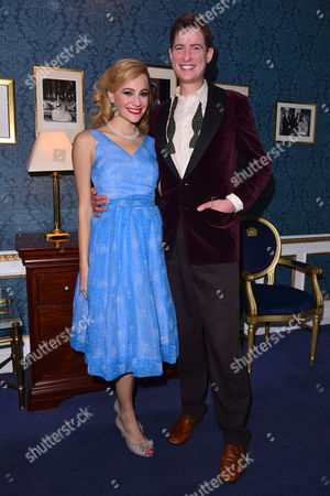 London, England 26th July 2016: Pixie Lott and Matt Barber at the Press Night of 'Breakfast at Tiffany's' at the Theatre Royal Haymarket in London, England On the 26th July 2016.