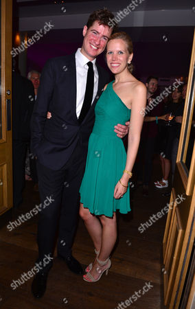 London, England 26th July 2016: Matt Barber and Guest Attends the Press Night After Party of 'Breakfast at Tiffany's' at the Haymarket Hotel in London, England On the 26th July 2016.