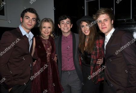 Press Night of Loserville at the Garrick Theatre and After Party at the National Gallery Cafe Charing Cross Road Westminster London Stewart Clarke Eliza Hope Bennett Lil' Chris Charlotte Harwood & Richard Lowe