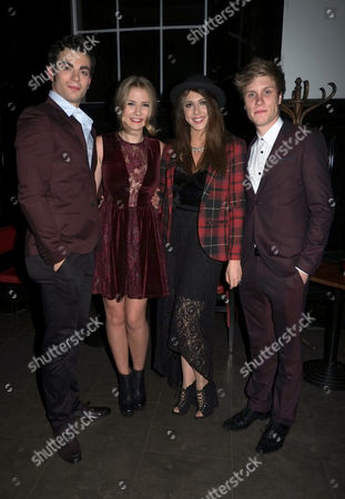 Press Night of Loserville at the Garrick Theatre and After Party at the National Gallery Cafe Charing Cross Road Westminster London Stewart Clarke Eliza Hope Bennett Charlotte Harwood & Richard Lowe