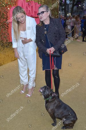 London, England, 29th June 2016: Carrie Fisher with Daughter Billie Catherine Lourd at the 'Absolutely Fabulous: the Movie' World Premiere at Odeon Cinema in Leicester Square, London On the 29th June 2016.