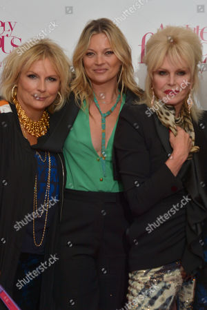 London, England, 29th June 2016: Jennifer Saunders, Kate Moss and Joanna Lumley at the 'Absolutely Fabulous: the Movie' World Premiere at Odeon Cinema in Leicester Square, London On the 29th June 2016.
