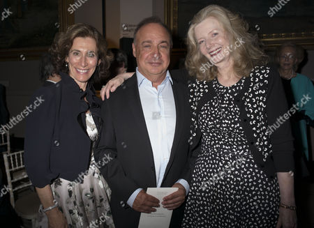 London, England 26th June 2016 - Emily & Leonard Blavatnik with Lady Annabel Weidenfeld at a Celebration of the Life of Lord George Weidenfeld St the Victoria & Albert Museum On Brompton Road in West London On the 26th June 2016.