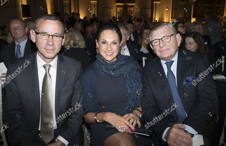 London, England 26th June 2016 - Mark Regev , the Ambassador From Israel to the United Kingdom with Gerald and Dame Gail Ronson at the Victoria & Albert Museum On Brompton Road in West London On the 26th June 2016.