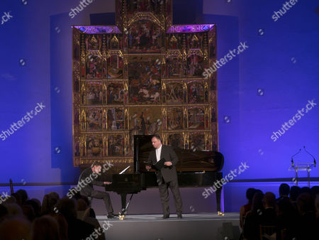 London, England 26th June 2016 - Matthias Gerne & Christian Bezuidenhout at a Celebration of the Life of Lord George Weidenfeld St the Victoria & Albert Museum On Brompton Road in West London On the 26th June 2016.