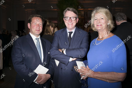 Stock Picture of London, England 26th June 2016 - Ed Vaizey Mp , Lord Peter Mandelson & Baroness Margaret Jay at the Victoria & Albert Museum On Brompton Road in West London On the 26th June 2016.