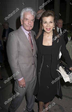 London, England 26th June 2016 - Nicky Haslam and Princess Firyal of Jordan at the Victoria & Albert Museum On Brompton Road in West London On the 26th June 2016.