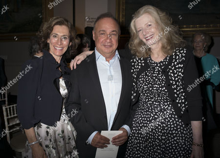 Stock Photo of London, England 26th June 2016 - Emily & Leonard Blavatnik with Lady Annabel Weidenfeld at a Celebration of the Life of Lord George Weidenfeld St the Victoria & Albert Museum On Brompton Road in West London On the 26th June 2016.
