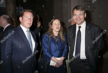 London, England 26th June 2016 - Ed Vaizey Mp with His Sister and Guest at the Victoria & Albert Museum On Brompton Road in West London On the 26th June 2016.