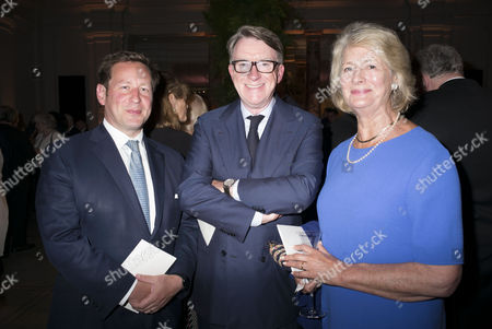 London, England 26th June 2016 - Ed Vaizey Mp , Lord Peter Mandelson & Baroness Margaret Jay at the Victoria & Albert Museum On Brompton Road in West London On the 26th June 2016.