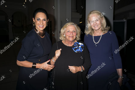 Stock Image of London, England 26th June 2016 - Dame Gail Ronson, Dame Vivien Duffield & Dame Theresa Sackler at a Celebration of the Life of Lord George Weidenfeld St the Victoria & Albert Museum On Brompton Road in West London On the 26th June 2016.