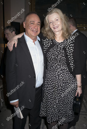 Stock Picture of London, England 26th June 2016 - Leonard Blavatnik and Lady Annabel Weidenfeld at a Celebration of the Life of Lord George Weidenfeld St the Victoria & Albert Museum On Brompton Road in West London On the 26th June 2016.