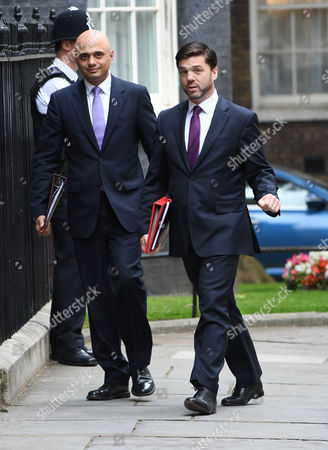 London England 5th July 2016 : Sajid Javid Mp and Stephen Crabb Mp Attends a Cabinet Meeting at 10 Downing Street in London, England. 5th July 2016.