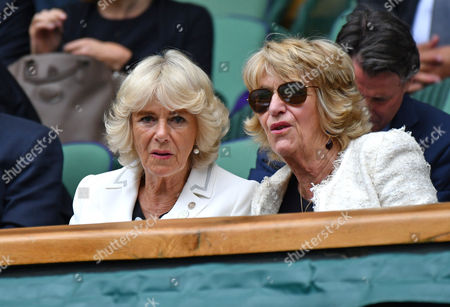 Wimbledon, London UK 29th June 2016: Camilla the Duchess of Cornwall & Her Sister Annabel Elliot Watching Andrew Murray Vs Yen-hsun Lu On Court One One Day 4 of the Wimbledon Tennis Championships in London, England. 29th June 2016.