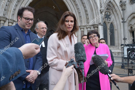 Editorial image of Shm: Christina Estrada Leaves the Royal Courts of Justice 8th July 2016
