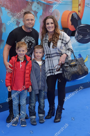 Stock Photo of London, England 10th July 2016: Sam Bailey with Husband Craig Pearson at the European Premiere of 'Finding Dory' Held at the Odeon Cinema in Leicester Square, London On the 10th July 2016.