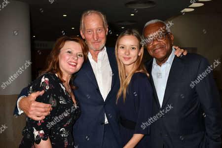 London, England 27th June 2016: the American Poets Read by Monica Dolan , Charles Dance, Alexandra Dowling and Sir Trevor Mcdonald at the Josephine Hart Poetry Hour at the British Library Euston Road London. 27th June 2016