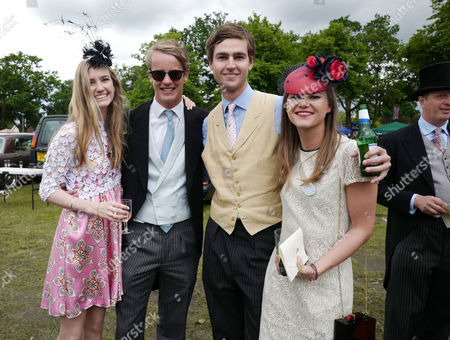 Ascot, England. 16th June 2016: Ella May Sangster , George Spencer-churchill, Marquess of Blandford, Mylo Sangster and His Girlfriend Alice Burridge at Ascot On Ladies Day at Royal Ascot 2016 16th June 2016 Ascot Racecourse, Berkshire, England