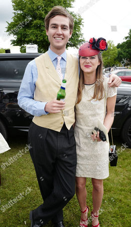 Stock Image of Ascot, England. 16th June 2016: Mylo Sangster and Alice Burridge at Ascot On Ladies Day at Royal Ascot 2016 16th June 2016 Ascot Racecourse, Berkshire, England