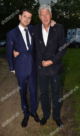 London UK 21st June 2016: Alexander Spencer-churchill and His Uncle Henry Wyndham at Lady Annabel Goldsmith's Summer Party Ham Gate Richmond Park Twickenham London 21st June 2016