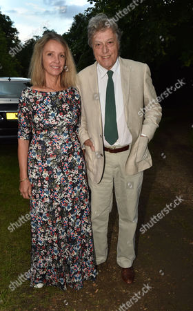 London UK 21st June 2016: Tom Stoppard and Sabrina Guinness at Lady Annabel Goldsmith's Summer Party Ham Gate Richmond Park Twickenham London 21st June 2016
