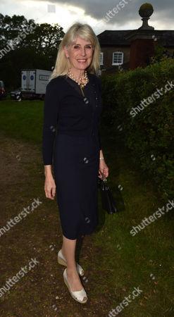 Stock Photo of London UK 21st June 2016: Selina Scott at Lady Annabel Goldsmith's Summer Party Ham Gate Richmond Park Twickenham London 21st June 2016