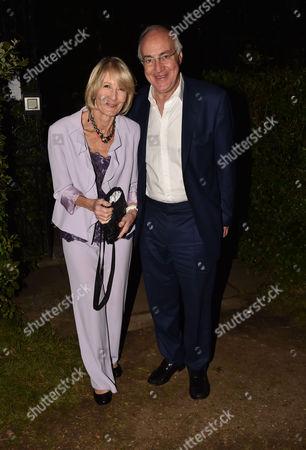London UK 21st June 2016: Michael and Sandra Howard, Marquess of Worcester at Lady Annabel Goldsmith's Summer Party Ham Gate Richmond Park Twickenham London 21st June 2016