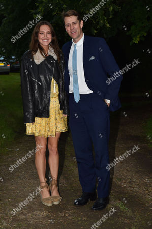 London UK 21st June 2016: Ben Elliott and His Wife and Mary-clare Winwood at Lady Annabel Goldsmith's Summer Party Ham Gate Richmond Park Twickenham London 21st June 2016