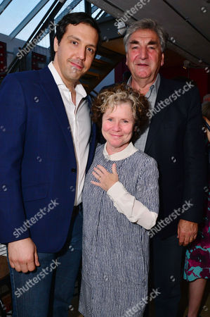 London, England, 14th July 2016: Alex Gaumond, Imelda Staunton, Jim Carter Attend the Press Night for 'The Trial of Jane Fonda' at the Park Theatre, Finsbury Park On the 14th July 2016