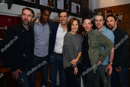 London, England, 14th July 2016: Mark Rose, Ako Mitchell, Alex Gaumond, Anne Archer, Christien Anholt, Paul Herzberg, Martin Fisher Attend the Press Night for 'The Trial of Jane Fonda' at the Park Theatre, Finsbury Park On the 14th July 2016
