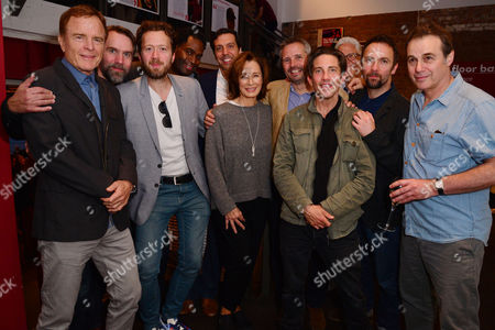 London, England, 14th July 2016: Terry Jastrow, Jez Bond, Mark Rose, Ako Mitchell, Alex Gaumond, Anne Archer, Joe Harmston, Christien Anholt, Paul Herzberg, Martin Fisher Attend the Press Night for 'The Trial of Jane Fonda' at the Park Theatre, Finsbury Park On the 14th July 2016