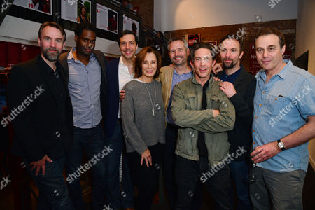 London, England, 14th July 2016: Mark Rose, Ako Mitchell, Alex Gaumond, Anne Archer, Joe Harmston, Christien Anholt, Paul Herzberg, Martin Fisher Attend the Press Night for 'The Trial of Jane Fonda' at the Park Theatre, Finsbury Park On the 14th July 2016