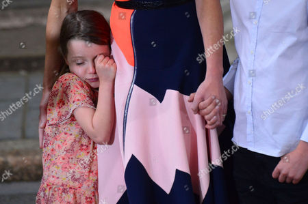 London, England, 13th July 2016: Florence Rose Endellion Cameron Seen Crying As Her Family Say Their Goodbyes As They Leave 10 Downing Street in Westminster, London, England On the 13th July 2016.