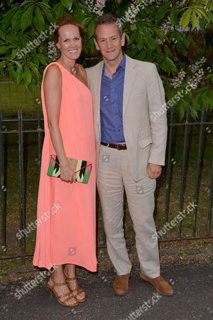 Stock Photo of London, England, 6th July 2016 : Alexander Armstrong, Hannah Bronwen Snow at the Serpentine Gallery Annual Summer Party in London, England On the 6th July 2016..