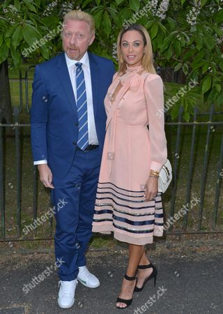 Stock Photo of London, England, 6th July 2016 : Boris Becker and Lily Becker at the Serpentine Gallery Annual Summer Party in London, England On the 6th July 2016..