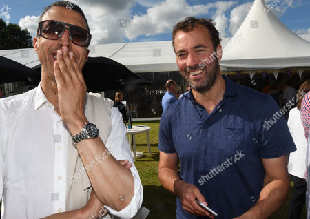 Oxford, England 3rd July 2016 - Kamal Ahmed & William Lewis at the Wellbeing of Woman 28th Celebrity Cricket Day in Memory of Miles Frost at Sir Victor and Lady Blanks Home in Chippinghurst Manor Near Oxford, On the 3rd July 2016.