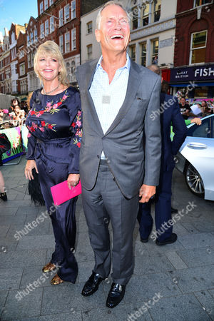 Stock Picture of London UK 3rd August 2016: Charles and Pandora Delevingne Attend the European Premiere of Suicide Squad at the Odeon Leicester Square, London UK On 3rd August 2016.