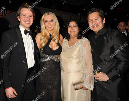 The 4th Asian Awards at the Ballroom of the Grosvenor House Hotel Park Lane London Conrad Baker and Emma Noble with Gurinder Chadha with Her Husband Paul Mayeda Berges