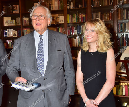 The Book Launch of the Liar's Ball by Vicky Ward: the Extraordinary Saga of How One Building Broke the World's Toughest Tycoons at Henry Sotheran's Sackville Street Mayfair London the Parties Host Sir Evelyn De Rothschild with the Author Vicky Ward