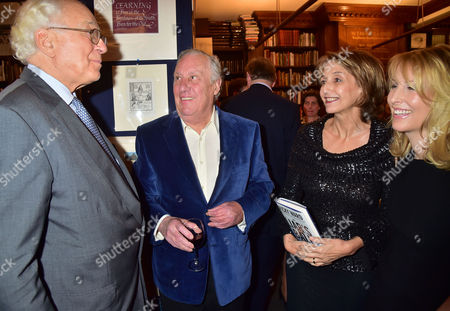 The Book Launch of the Liar's Ball by Vicky Ward: the Extraordinary Saga of How One Building Broke the World's Toughest Tycoons at Henry Sotheran's Sackville Street Mayfair London the Parties Host Sir Evelyn De Rothschild with the Author Vicky Ward and Sandi & Freddie Forsyth